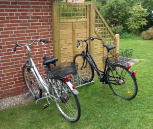 Fahrradständer am Ferienhaus Rebbelstieg